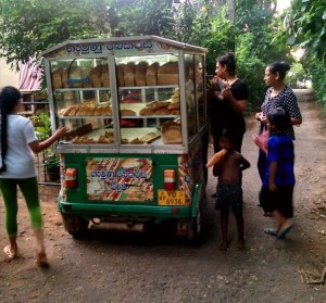 Sri Lankan bread rickshaw